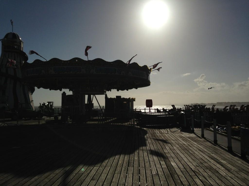 Pier al tramonto