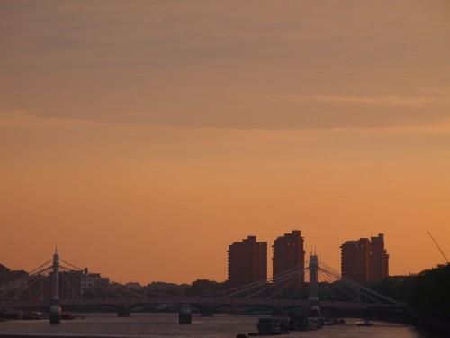 Londra al tramonto...