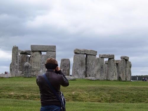 Marco a Stonehenge, foto di Gloria