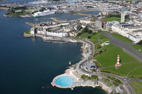 Plymouth dall'alto