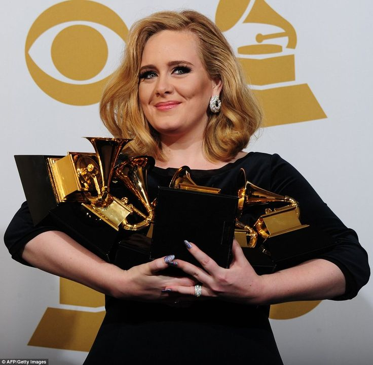 Adele fa bottino di Grammy Awards