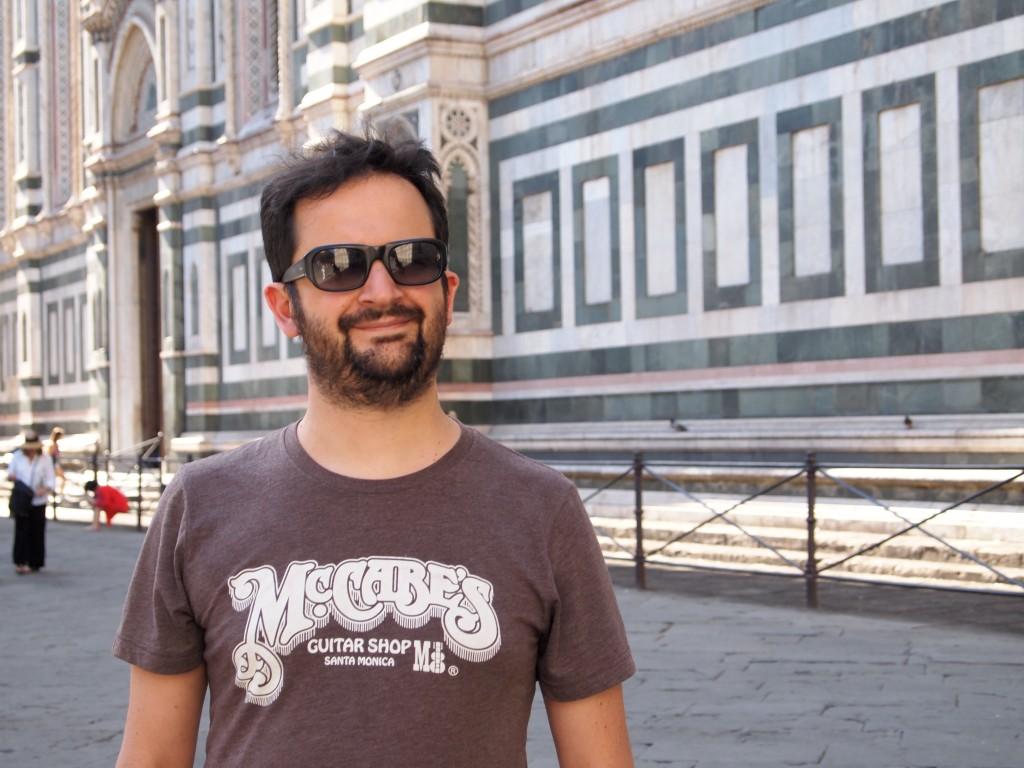 Marco davanti al Duomo di Firenze