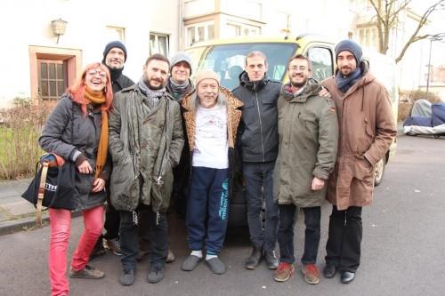 I Julie's con Damo Suzuki e la loro fonica Azzurra a Kol, tappa del loro tour