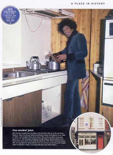 Hendrix nella sua cucina