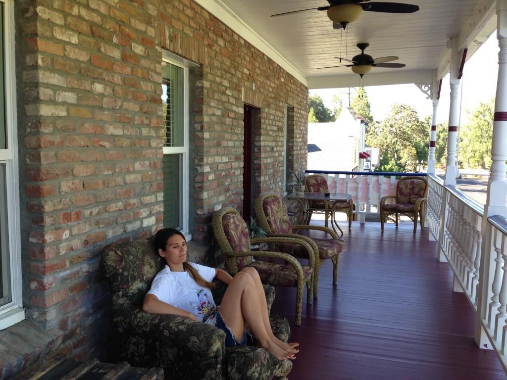 Io in veranda...