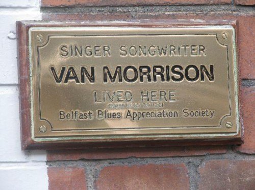 La targa in onore a Van Morrison