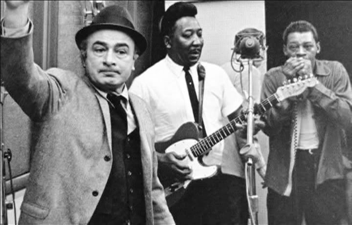 Muddy Waters & Little Walter col produttore Leonard Chess