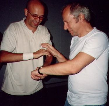 Giancarlo con Mark Knopfler