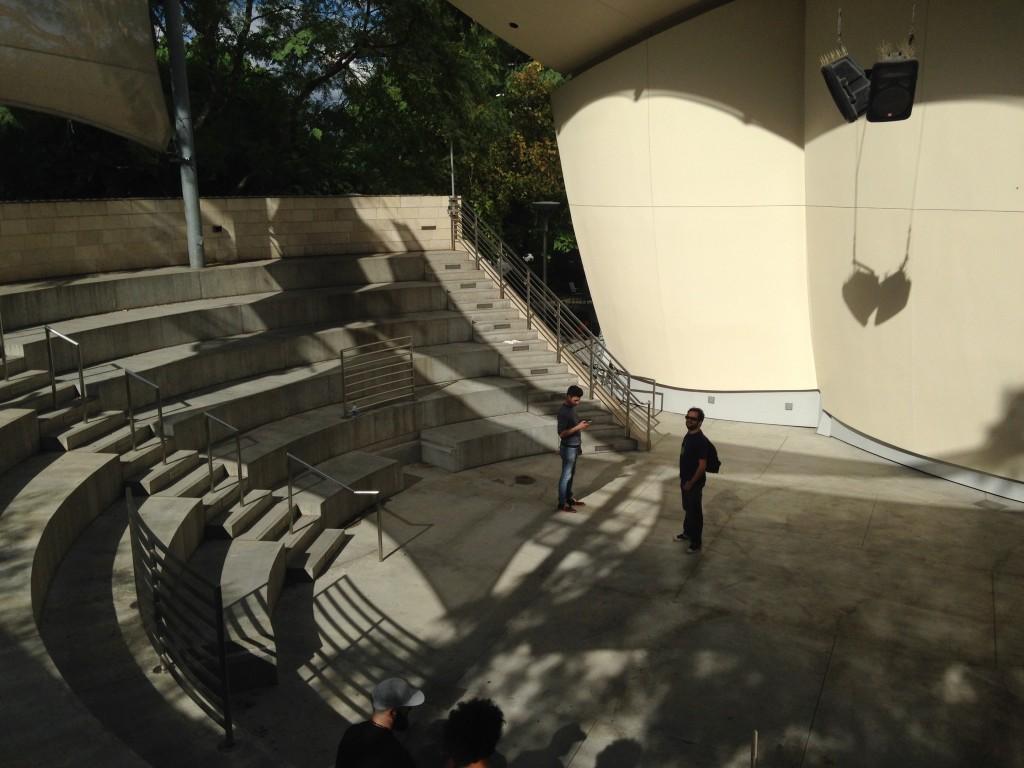 L'Anfiteatro esterno del Disney Center