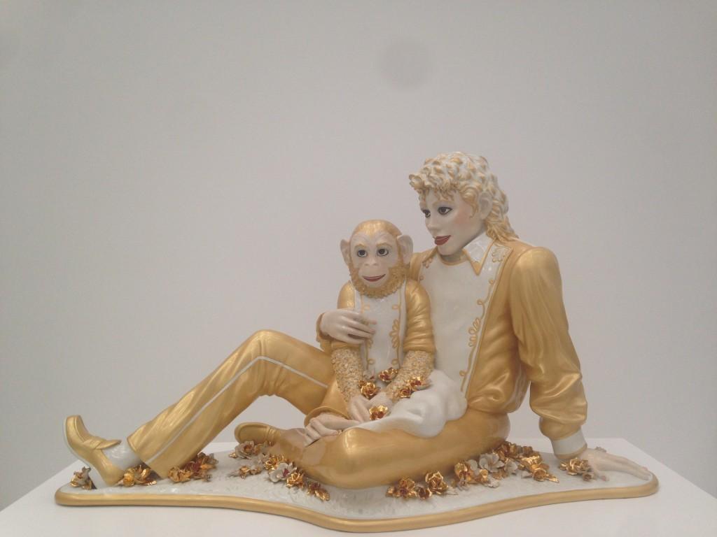 L'opera di Jeff Koons, foto di Gloria