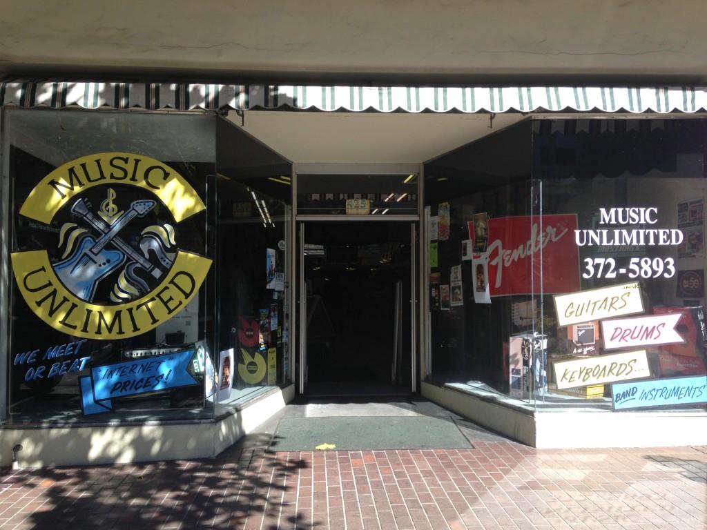 negozio di chitarre