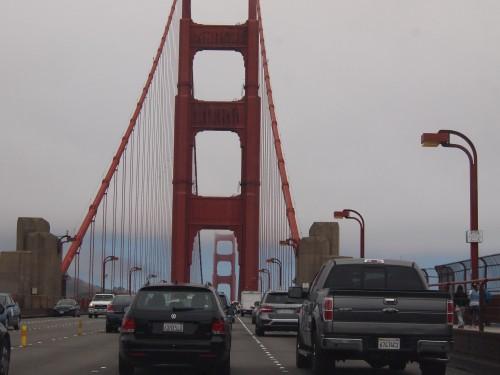 Mentre attraversiamo il  Golden Gate Bridge...