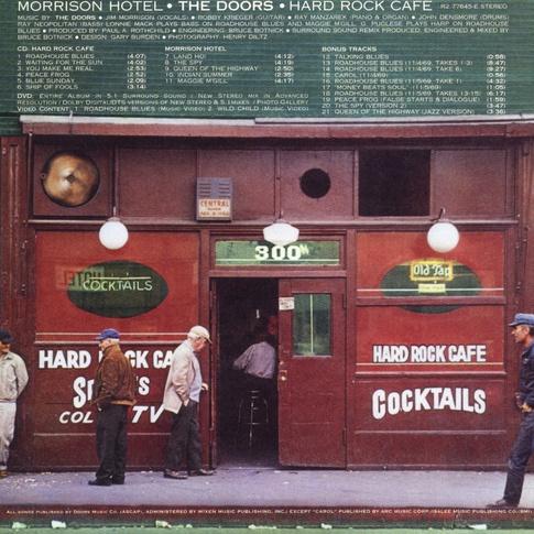 La copertina dei Doors dove appare l'Hard Rock Cafè di LA