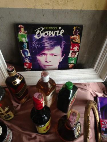 Bowie ad un mercatinio vintage