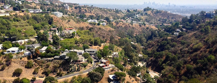 Laurel Canyon vista dall'alto