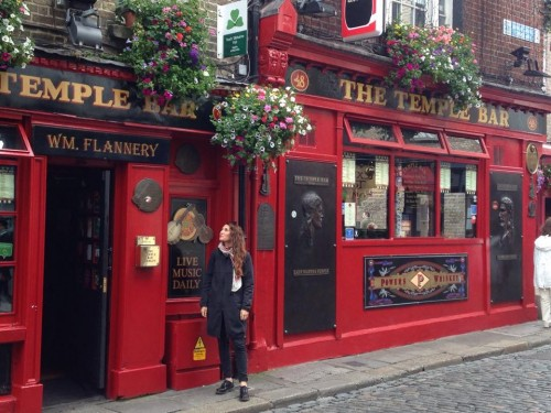 Io davanti a Temple Bar