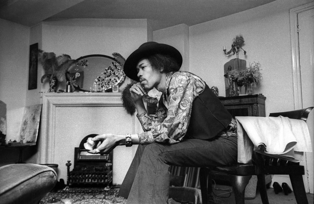 Jimi Hendrix al 23 di Brook Street, 1969. Credit (c)Barrie Wentzell