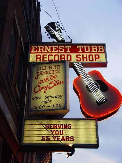 L'insegna di Ernest Tubb Records Shop