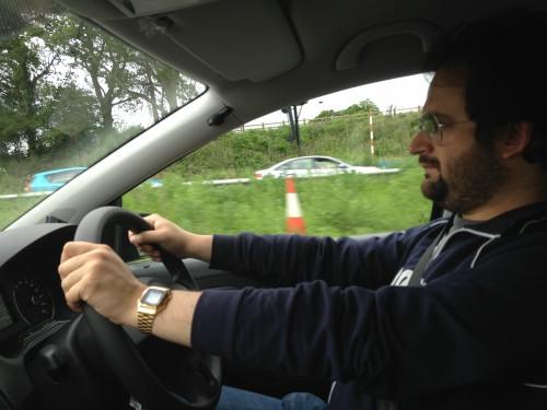 Marco alla guida