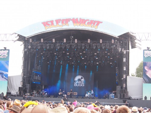 noi sotto al palco del Festival