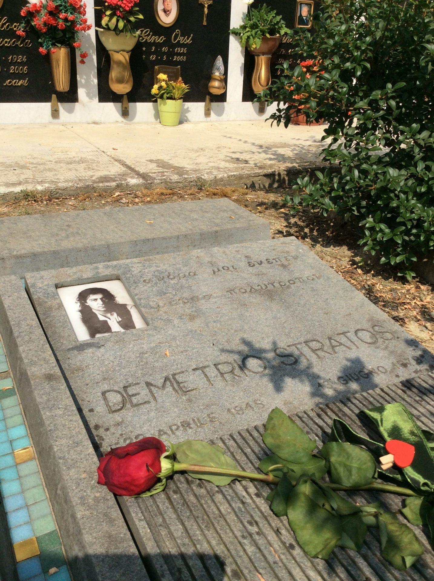 tomba di Demetrio stratos, foto di Gloria Annovi