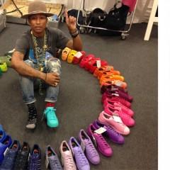Tutti pazzi per le creazioni di Pharrell Williams