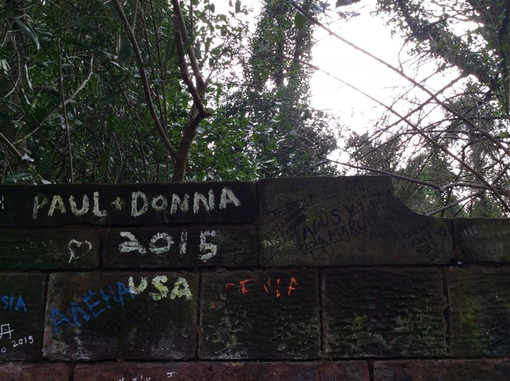 Le scritte dei Fans foto di Gloria