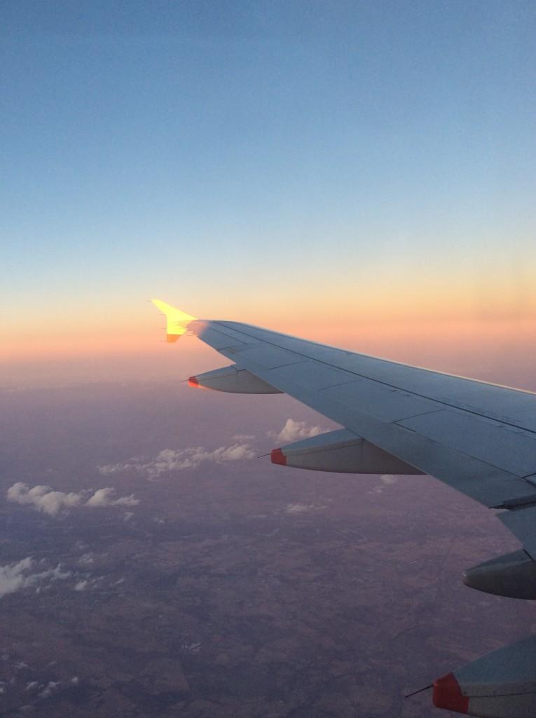 In volo, foto di Gloria