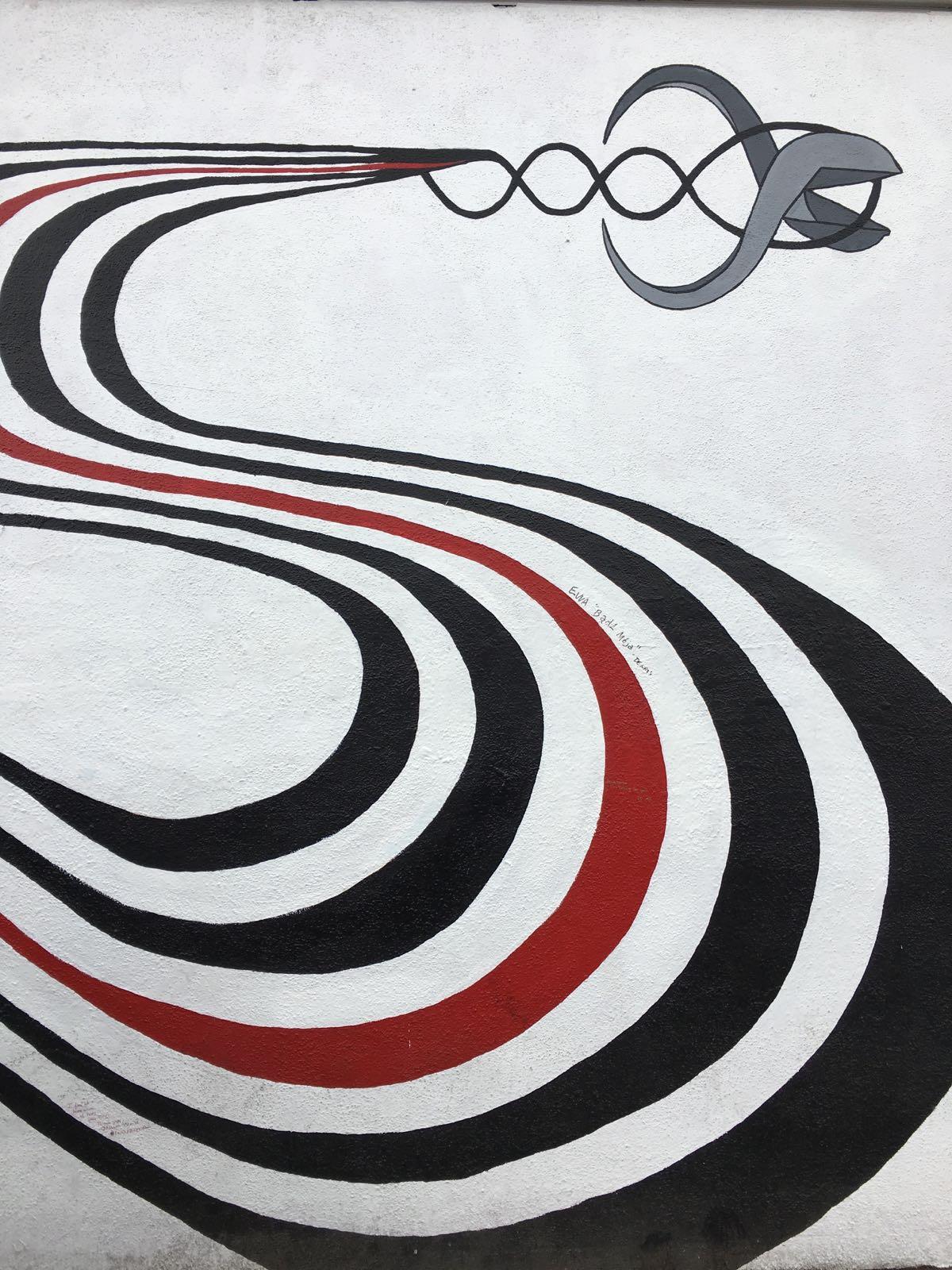 Il murales, foto di Gloria