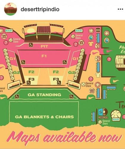 La mappa della zona concerti