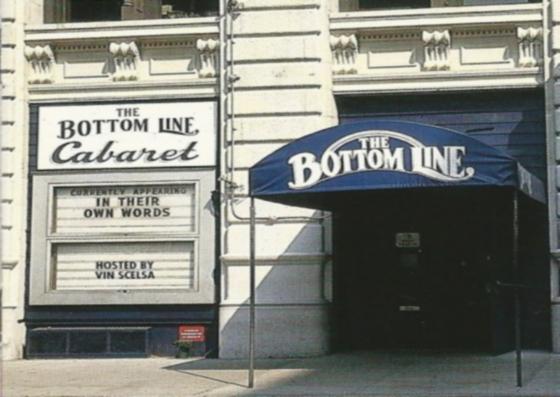 Un vecchio scatto del Bottom Line di NY