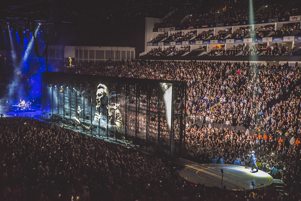 U2 live alla O2 Arena, credit foto static.gigwise.com