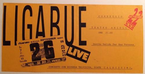 Il biglietto di un famoso concerto tenuto all'Asilo conservato da Gigi Cavalli cocchi