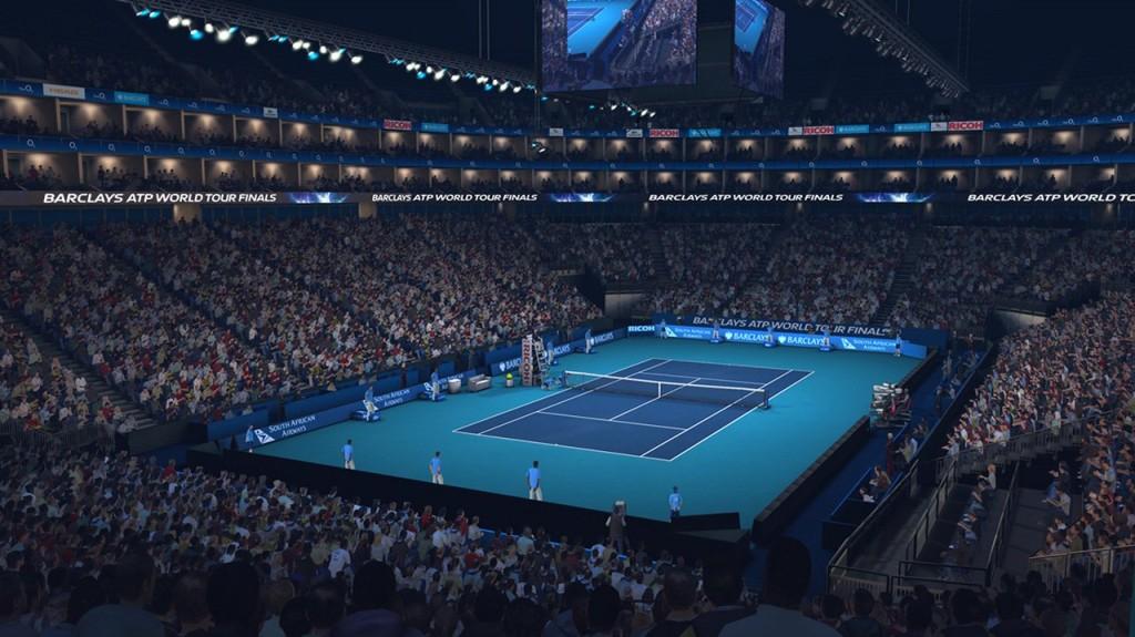 Una partita di tennis dentro la O2 Arena