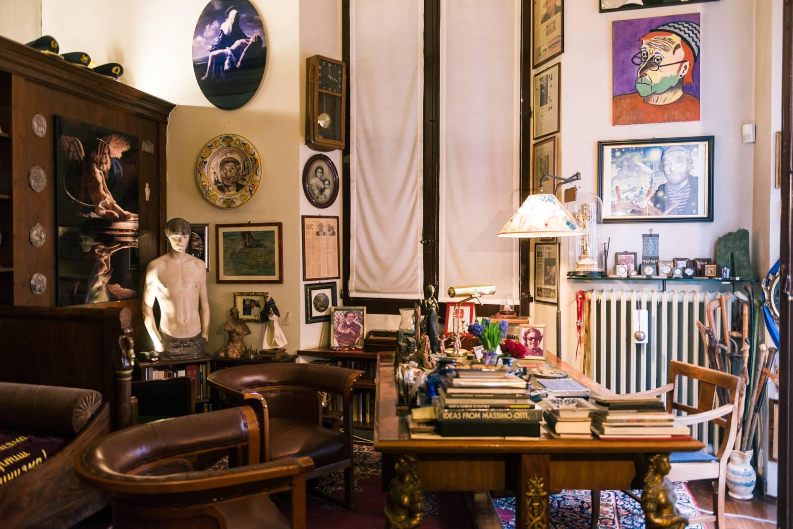 """Lo studio di Dalla, foto credit pagina FB """"A casa di Lucio"""""""