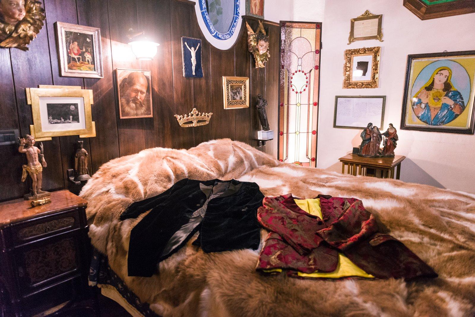 Camera da letto, foto credit pagina fb evento a casa di Lucio