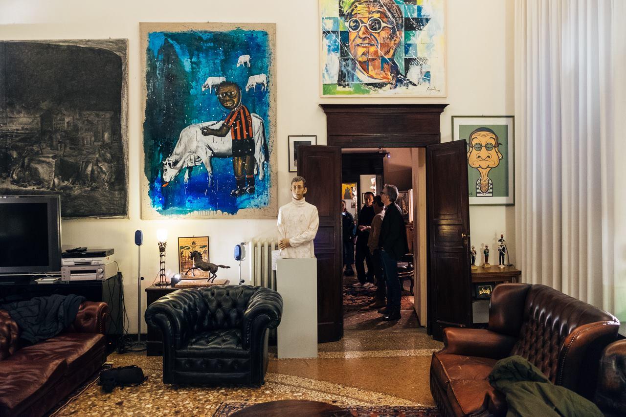 Alcune delle opere che ritraggono Lucio. Foto credit pagina FB evento a Casa di Lucio