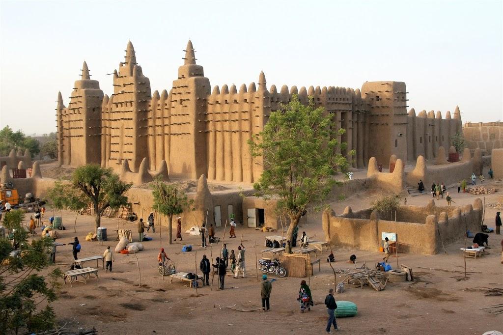 La grande Moschea di Djenne in Mali, Africa