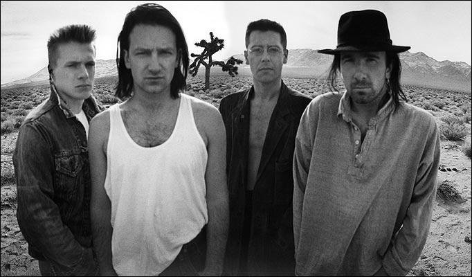 Uno scatto degli U2 nel parco di Joshua Tree