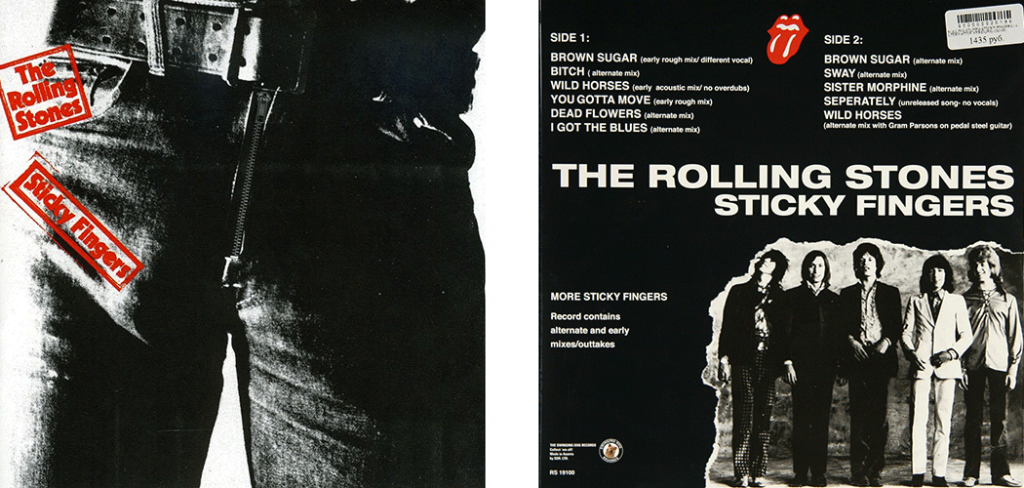 La celebre copertina del disco, opera dell'artista pop Andy Warhol,