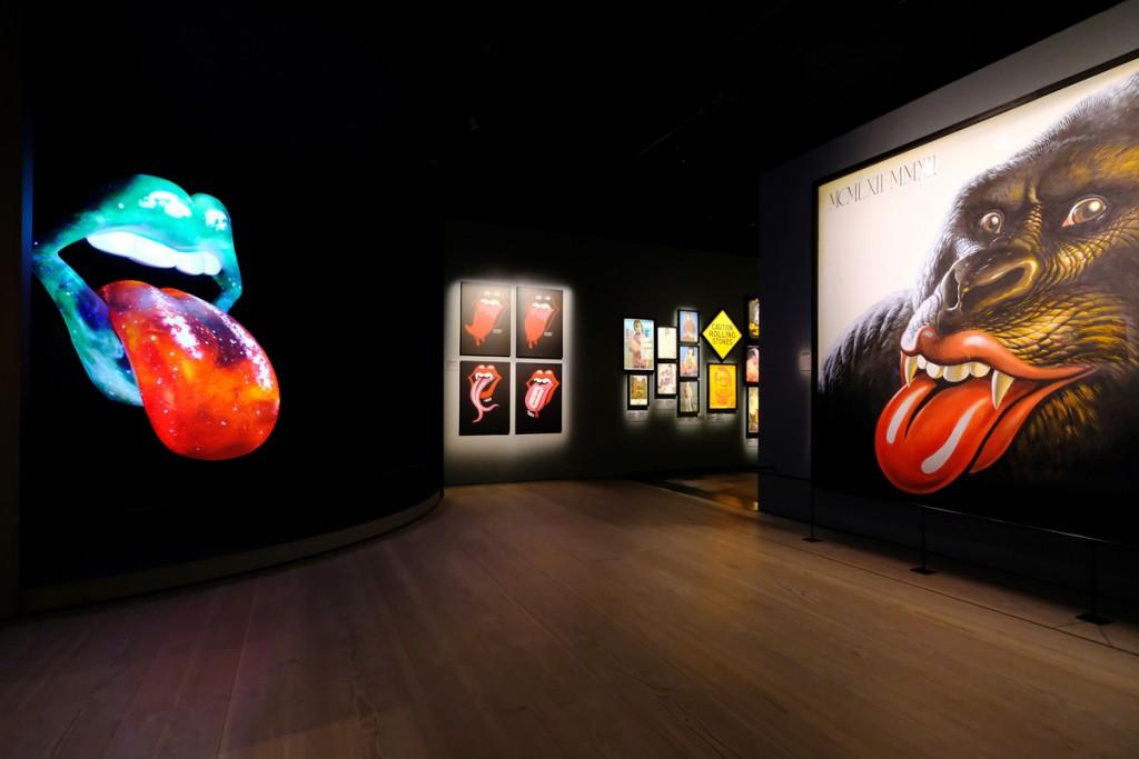 La mostra degli Stones alla Saatchy Gallery, credit foto www.stonesexhibitionism.com/