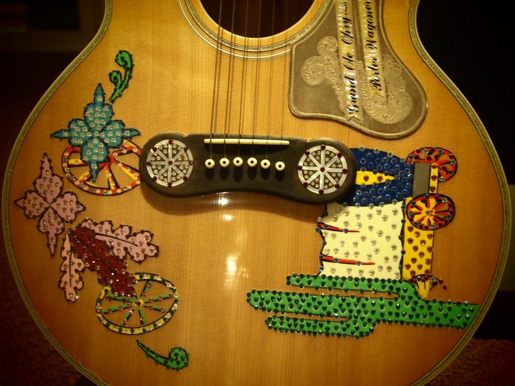 Particolare chitarra Porter Wagoner , foto di Gloria