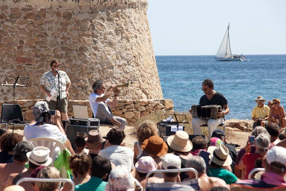 Paolo Fresu durante un'edizioe del suo Time in Jazz, festival sardo che si svolge ogni agosto a Berchidda