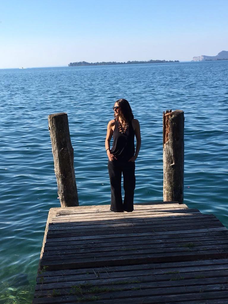 Io sul Lago al mattino, foto di Marco