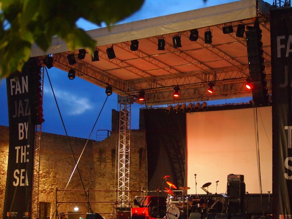 Palco principale in Rocca, foto di Gloria