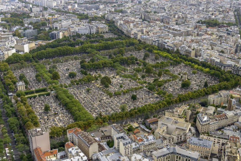 Il cimitero visto dall'alto, credit foto www.parigionline.com