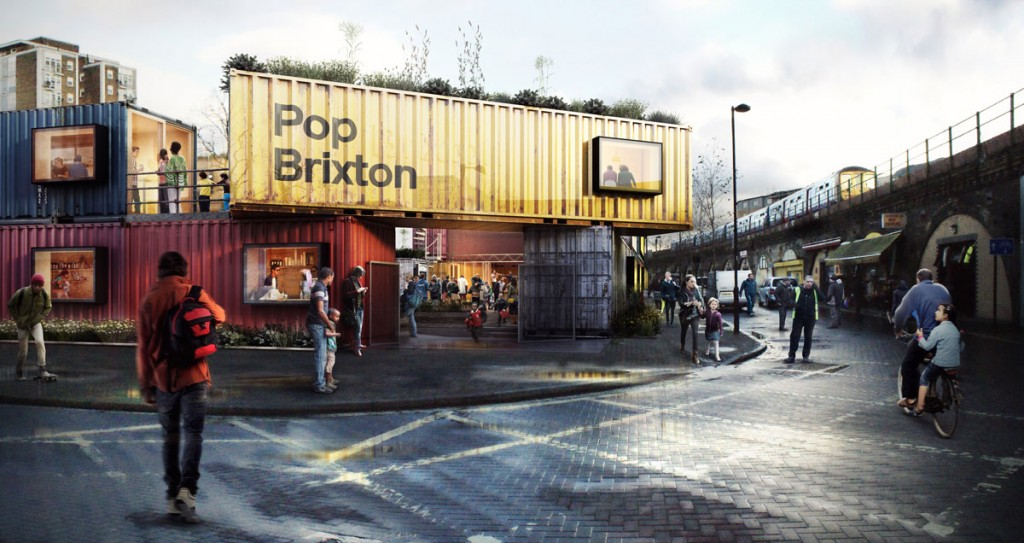 Il villaggio fatto di conteiner a Brixton