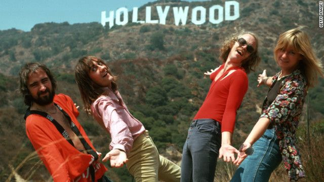 Fleetwood Mac with the Hollywood Sign, 1974