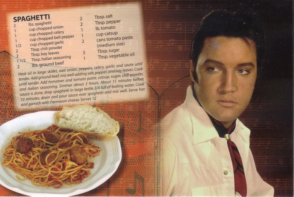 Elvis spaghetti big